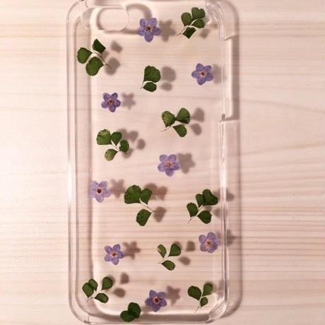 【受注製作63】iphone5/5sケース 本物のお花使用 スマホ