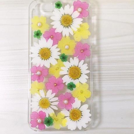 【受注製作70】iphone5/5sケース 本物のお花使用 スマホ