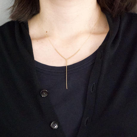 Ball chain  Y necklace