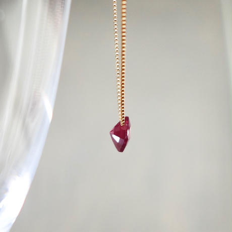 Square ruby necklace