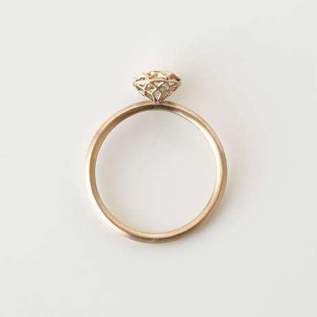 See-through diamond ring