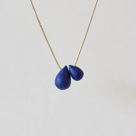Frost 2 drop necklace