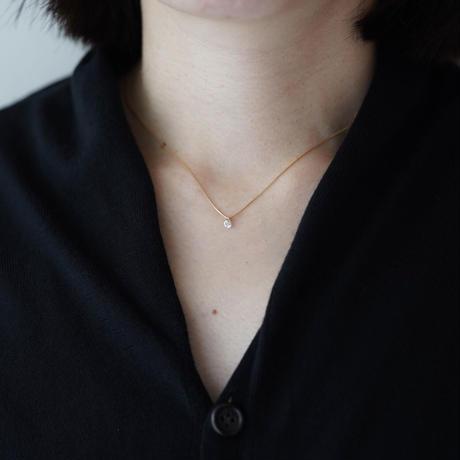 Hole diamond Cross necklace