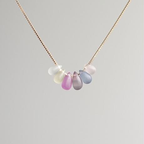 Frost no heat sapphire  necklace