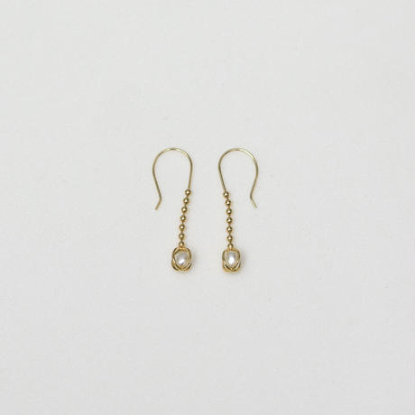 Keshi pearl ball chain pierce