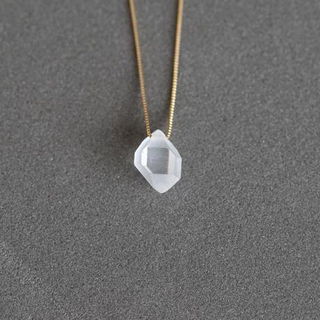 Frost Herkimer diamond necklace