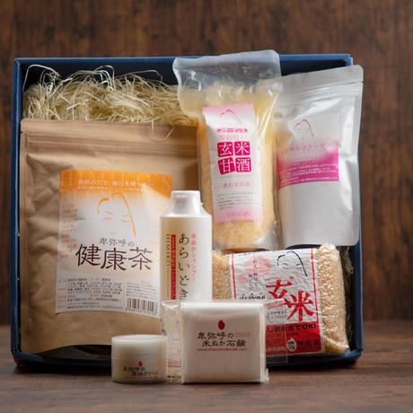 オリジナル商品のセット♡玄米・甘酒・健康茶・コラーゲン・シャンプー・石鹸・馬油 化粧箱入り