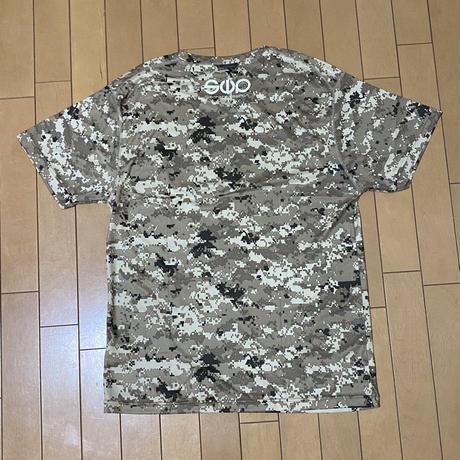 秘密兵器Tシャツ[迷彩 ピクセルデザート]