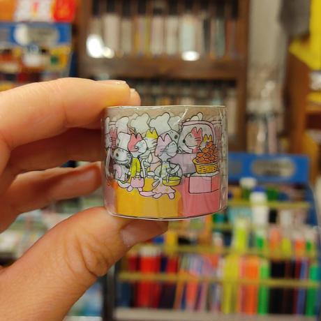 11ぴきのねこ透明マスキングテープ30(コロッケ)