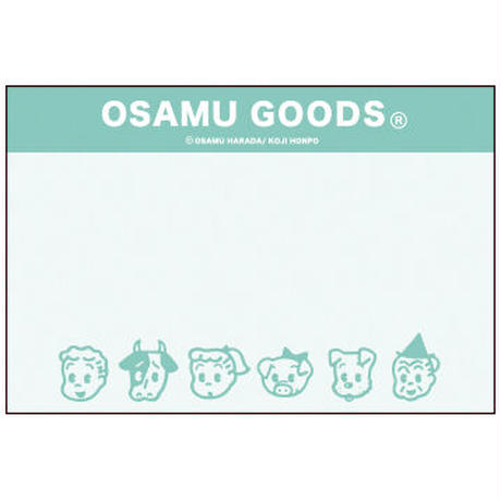 【OSAMU GOODS】カセットテープメモ(顔) 学研ステイフル
