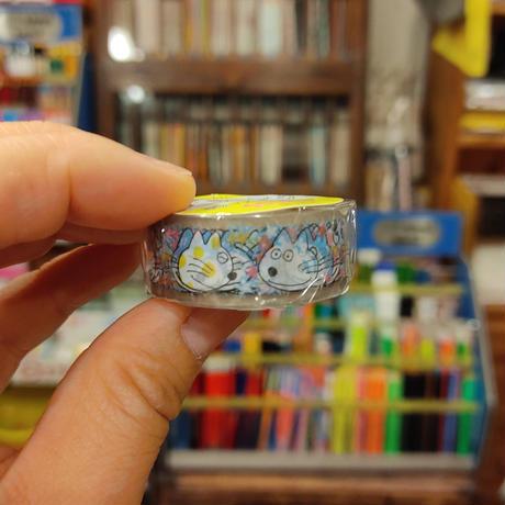 11ぴきのねこ透明マスキングテープ15(顔)