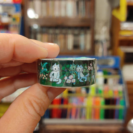 11ぴきのねこ透明マスキングテープ15(花畑)