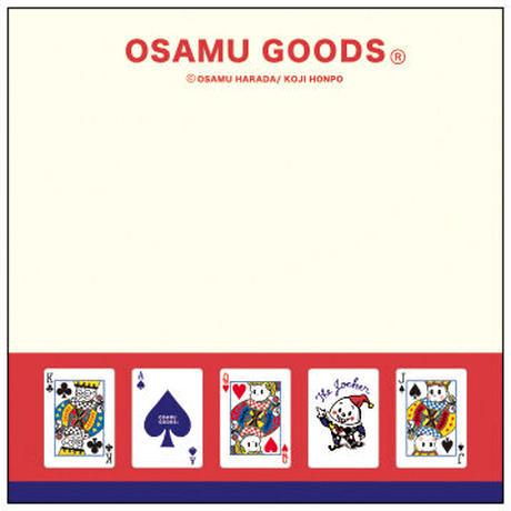 【OSAMU GOODS】ブロックメモ(トランプ) 学研ステイフル