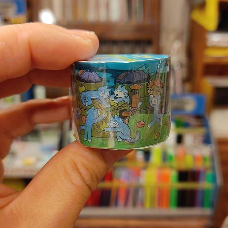 11ぴきのねこ透明マスキングテープ30(宇宙船)