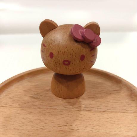 【ハローキティ木製アクセサリースタンド】ニチガン