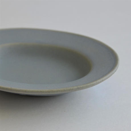 Awabi ware 楕円小皿 青マット