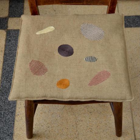 TETOTE 椅子敷き 大 石 くすみイエロー