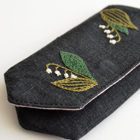 TETOTE カードケース origami スズラン 黒