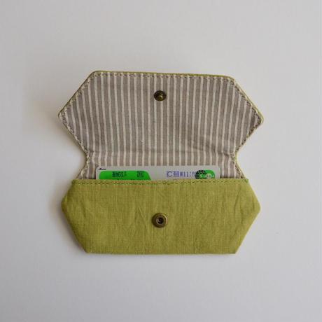 TETOTE カードケース origami マイホーム計画中 若草色