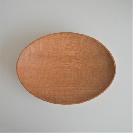 浦上陽介 楢の楕円皿 中