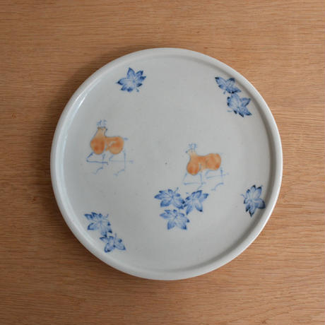 吉野千晴 鹿 五寸皿