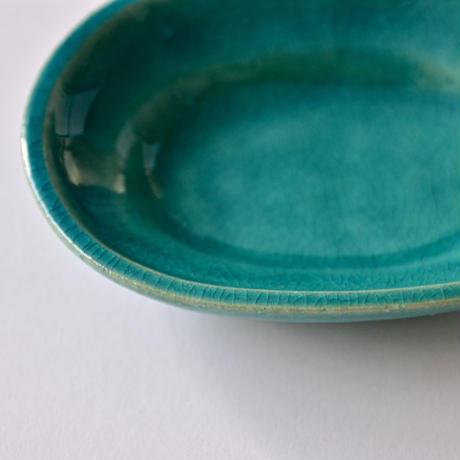 Awabi ware 楕円豆皿 トルコ