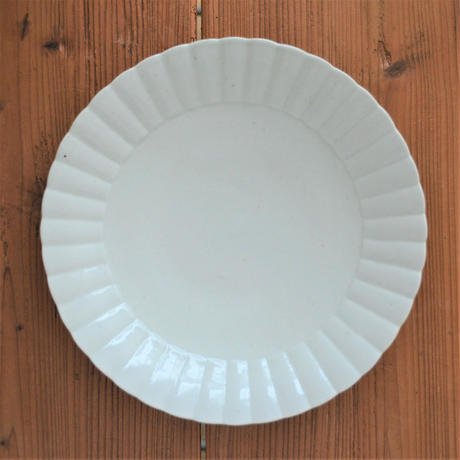 阿部春弥 白地ひまわり 7.5寸皿