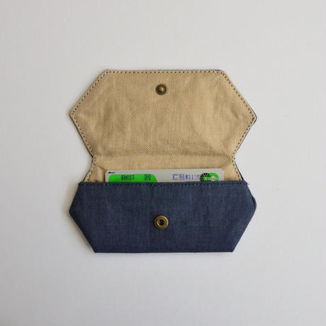 TETOTE カードケース origami いい子にしてるよ ダークブルー
