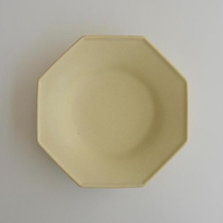 Awabi ware 八角中深皿 アイボリー