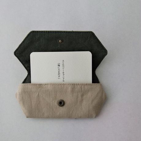 TETOTE カードケース origami ストロベリーキャンドル ベージュ