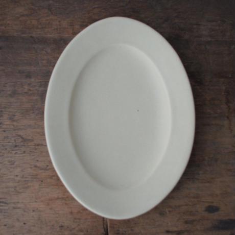 Awabi ware オーバル皿 M アイボリー