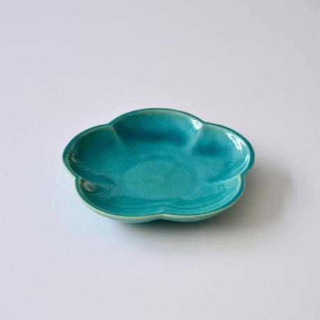 Awabi ware 花型小皿 トルコ