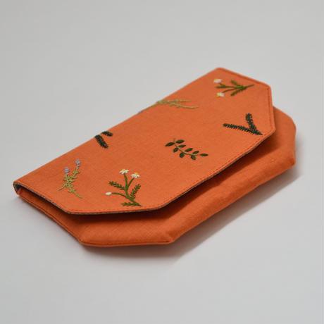 TETOTE 八角ポーチ HERBS オレンジ