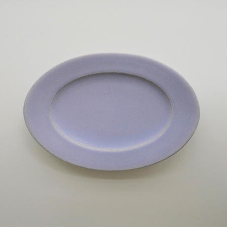 Awabi ware オーバル皿 S パープル
