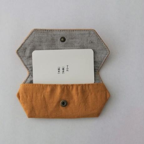 TETOTE カードケース origami すみれ 山吹色