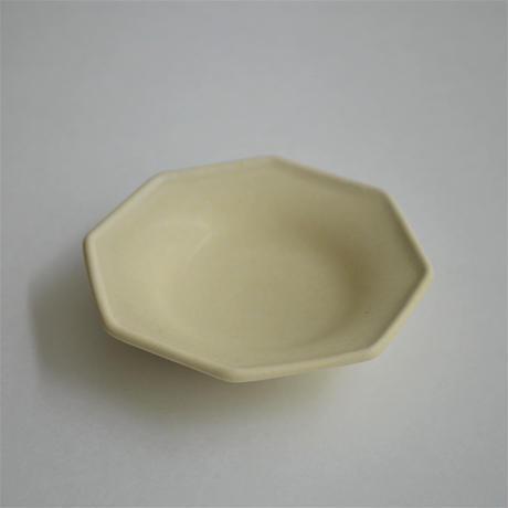 Awabi ware 八角豆皿 アイボリー
