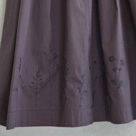 繍 ぬいとり 刺繍スカート 夕暮れ