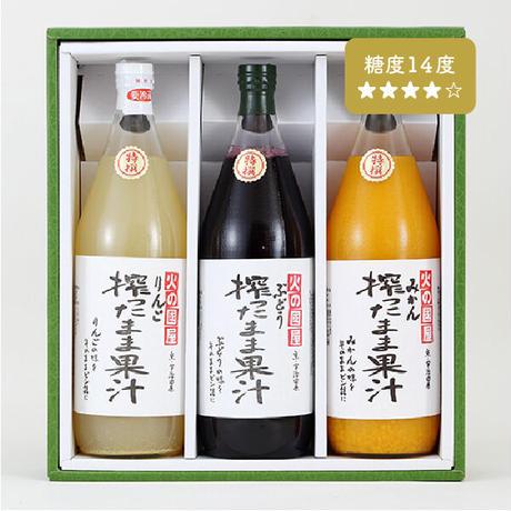 果物本来の旨味をぜひ!ご家族への贈答品にお勧めの「搾ったまま果汁」(1L瓶 3本セット)糖度14度 無添加ジュース