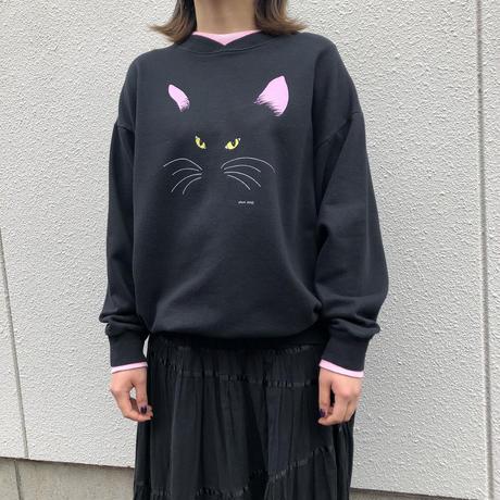 80'S CAT PRINT SWEAT [HP-0559]