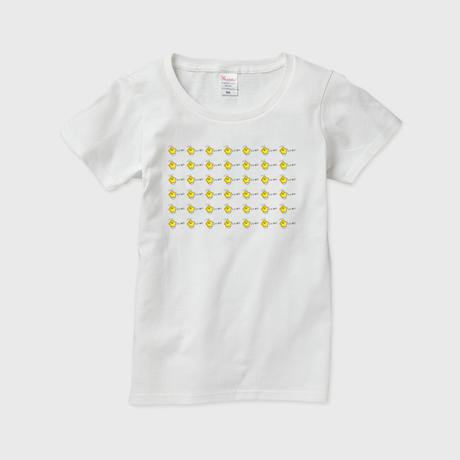 「ぼしひこいいね」レディースTシャツ 白