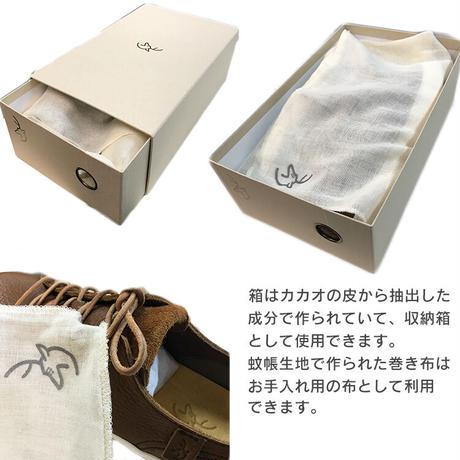 メンズ レザースニーカー【植物なめし  あかうし革使用】