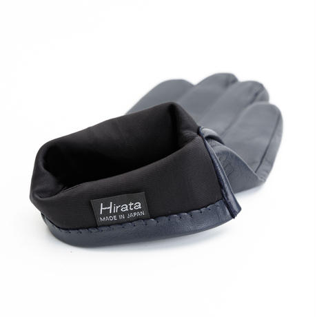 抗菌革・抗菌防臭裏生地を使用した革手袋(紳士用)ネイビー