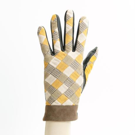 保多織をうまげによっけ繋いだ手袋(婦人用)グレージュ
