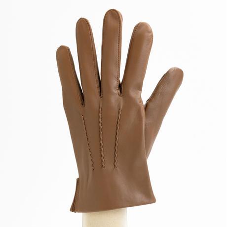 抗菌革・抗菌防臭裏生地を使用した革手袋(紳士用)ブラウン