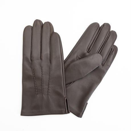 抗菌革・抗菌防臭裏生地を使用した革手袋(紳士用)チョコ
