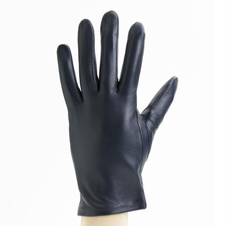 抗菌革・抗菌防臭裏生地を使用した革手袋(婦人用)ネイビー