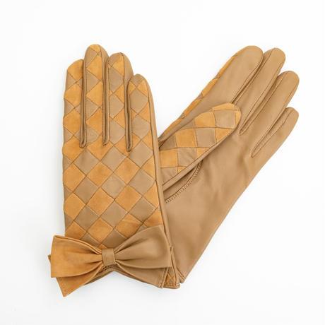 1/25DS革繋ぎ手袋(婦人用)ベージュ