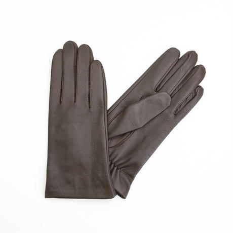 抗菌革・抗菌防臭裏生地を使用した革手袋(婦人用)チョコ