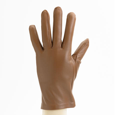 抗菌革・抗菌防臭裏生地を使用した革手袋(婦人用)ブラウン