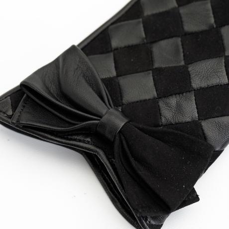 1/25DS革繋ぎ手袋(婦人用)クロ